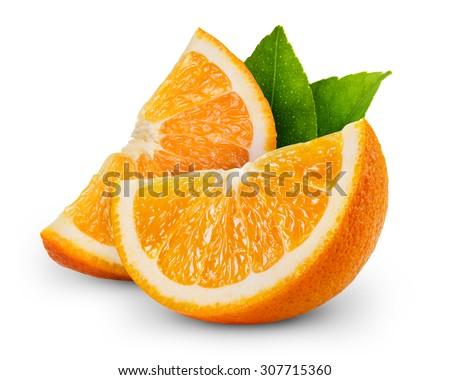 Shutterstock orange fruit slice isolated on white background