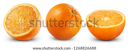 Orange fruits isolated on white background. Orange Clipping Path