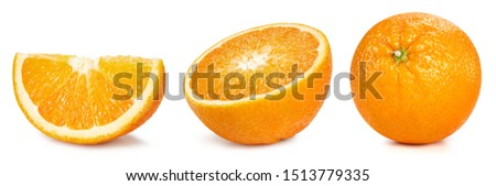 Orange fruits isolated on white background. Orange Clipping Path. Orange collection