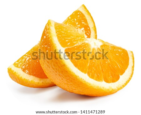 Orange fruits slice isolated on white background. Orange Clipping Path. The best photo for your project.
