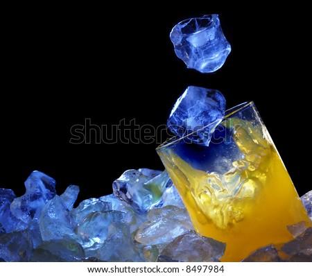 orange glass & ice