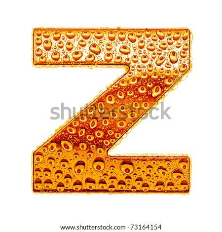Z Alphabet Images Orange gold alphabet symbol
