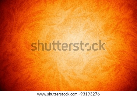 orange grained texture with free design pattern , abstract grunge background