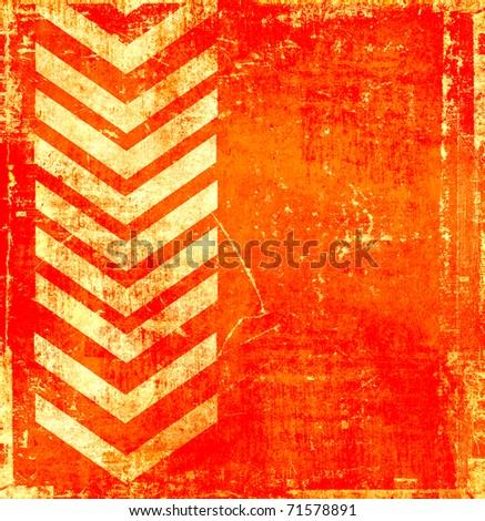 Orange grunge background with pointer