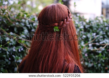 Orange hair Stok fotoğraf ©
