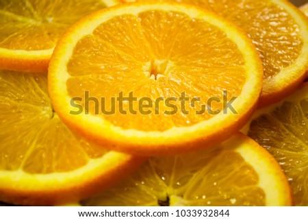 Orange, half of orange, orange lobule , orange background #1033932844