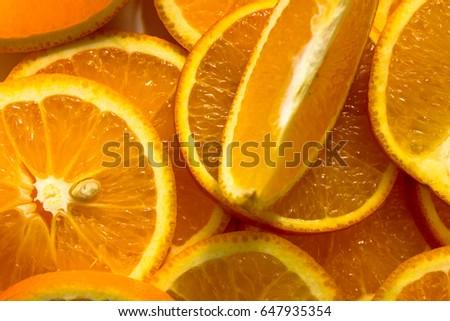 Orange, half of orange, orange lobule , orange background #647935354
