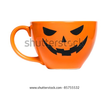 Orange Halloween coffee cup can used for promotion drinks
