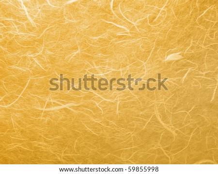 Orange handmade mulberry paper