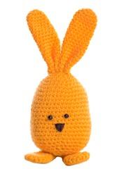 orange handmade stuffed animal easter bunny