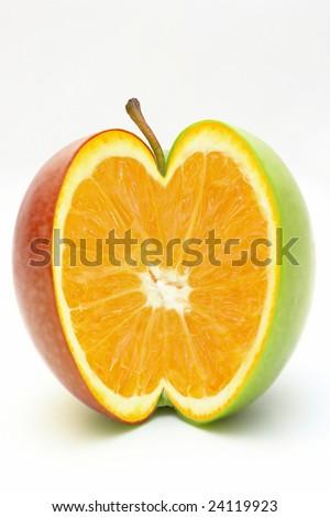 Orange in apple