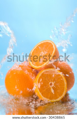 orange in water #30438865