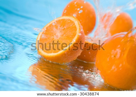 orange in water #30438874