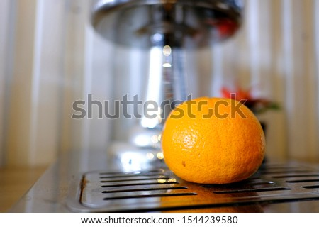 Orange is a fruit with a sweet and sour taste.