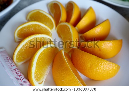 Orange is a popular fruit, regardless of season. With oranges having a sweet and sour taste Provides various vitamins and nutrients, especially vitamin C, vitamin A, vitamin B, vitamin D, potassium.