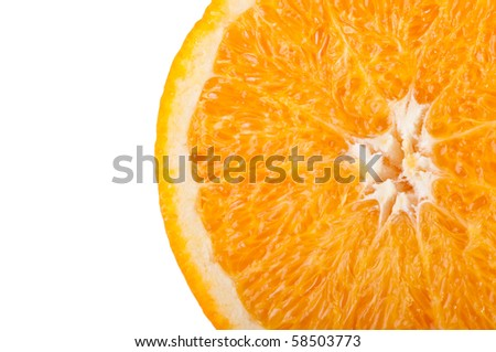 Orange isolated on a white background. Fresh fruits Isolated orange collection.