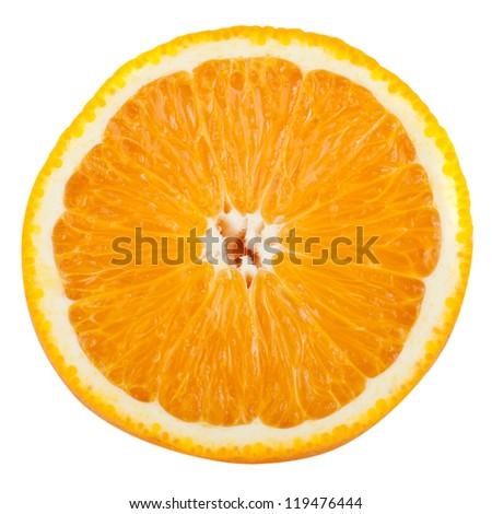 orange isolated on white background - stock photo