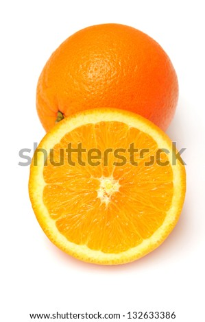 Orange isolated on white background