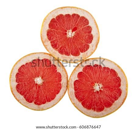 orange isolated on white background closeup #606876647