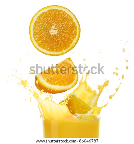 stock photo : orange juice