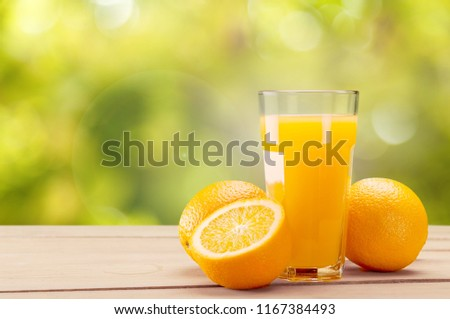 Orange juice and slices of orange #1167384493