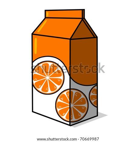 Orange Juice Cartoon Orange Juice Carton