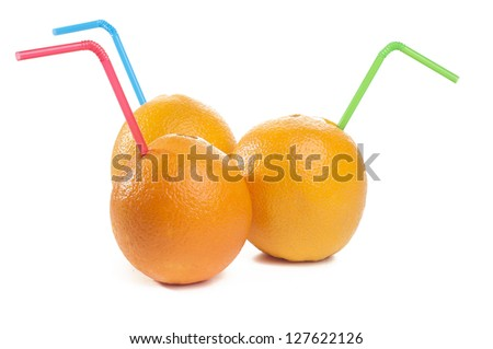 Orange juice from orange
