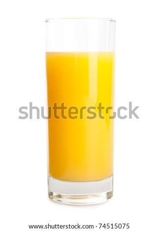 orange juice isolate on white - stock photo