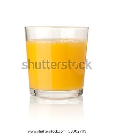 Orange juice. Isolated on white background