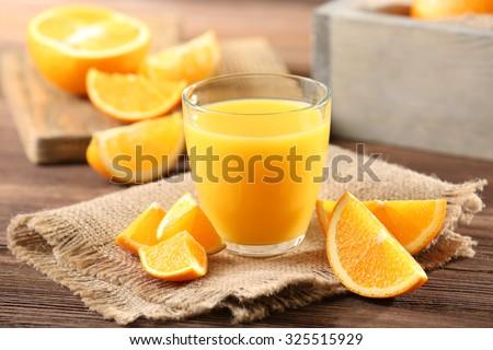 Shutterstock Orange juice on table close-up