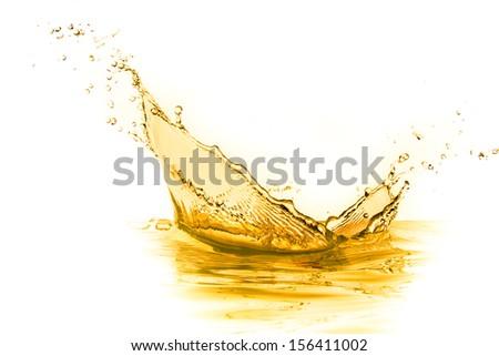orange juice splash isolated on white background #156411002