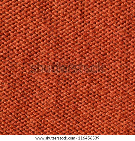 orange knitting fabric  background