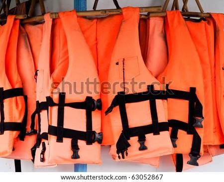 Orange life jackets
