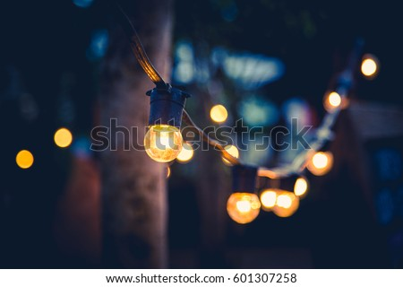 orange light bulb at night