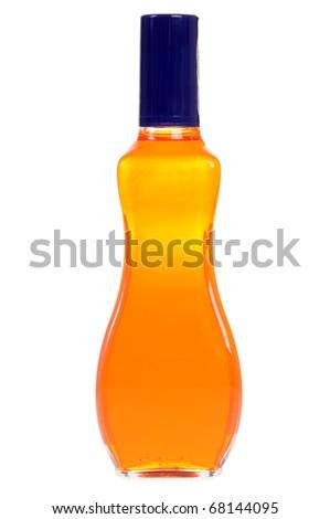Orange liqueur isolated on white background