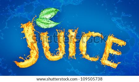 Orange liquid splash JUICE