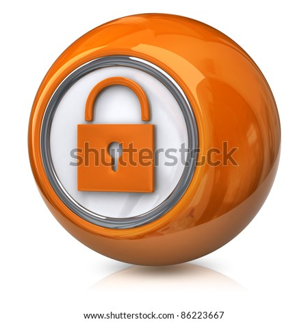 Orange lock icon