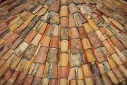 Orange Mediterranean Terracotta Tiled Curved Roof