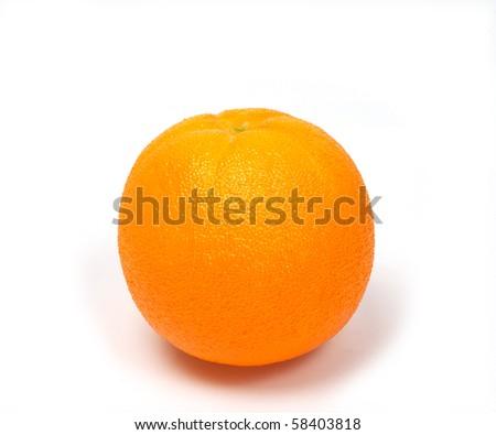 Orange Model fruit.Fake on white background.