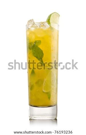 Orange mojito Tropical cocktail