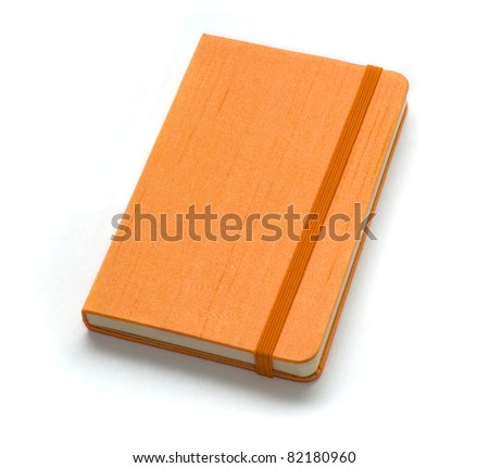 Orange note book. Look through my portfolio to find more images of the same series