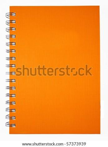 Orange notebook - stock photo