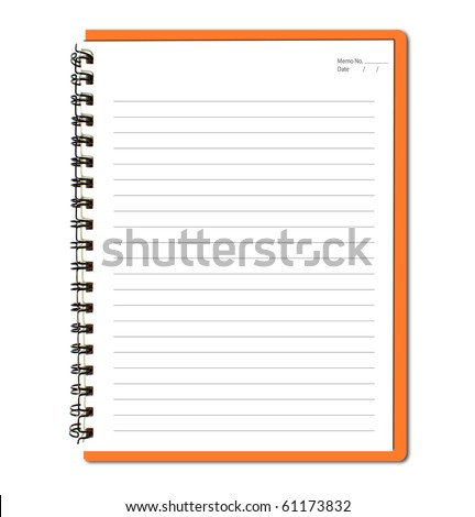 Orange notebook (blank paper)