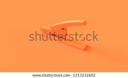 Orange Office Stapler 3d illustration 3d render