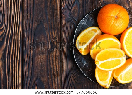 Shutterstock orange on plate