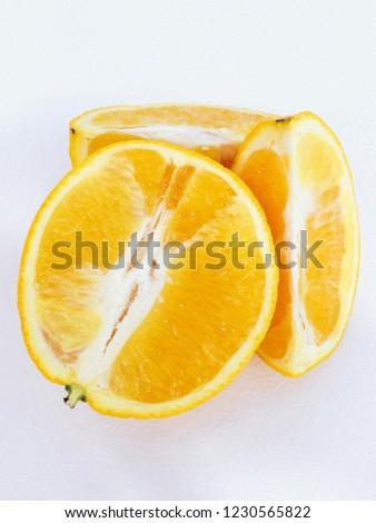 Orange on the table #1230565822