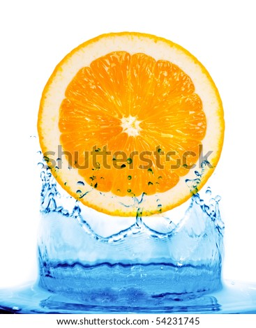orange on water