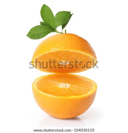 orange on white background isolated - stock photo