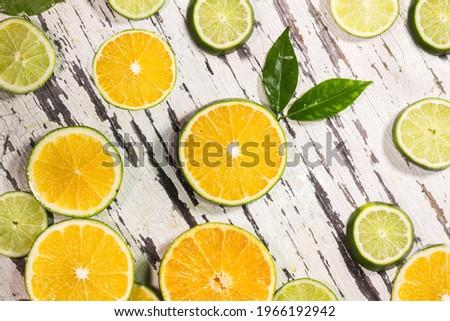 orange orange jaune jaune vert Photo stock ©