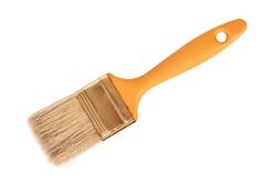 orange Paint brush isolated on white background